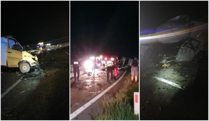 Două persoane au murit, iar alte trei au fost rănite după ce două dube s-au ciocnit frontal în Mureş