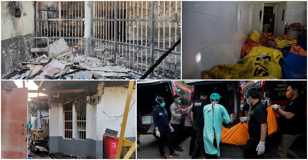 Incendiu puternic într-o închisoare din Indonezia