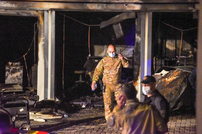 Cel puţin zece morţi într-un incendiu la un spital Covid din Macedonia de Nord
