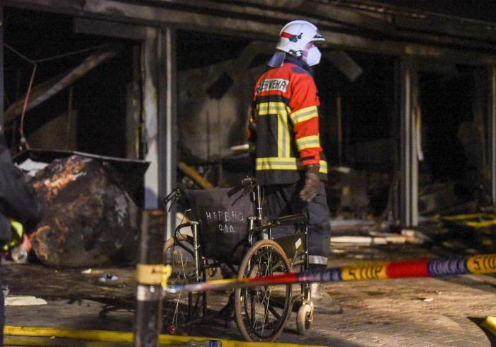 Incendiu de proporţii la un spital Covid din Macedonia de Nord. Cel puţin zece oameni au murit: ''Este o zi foarte tristă'' - VIDEO