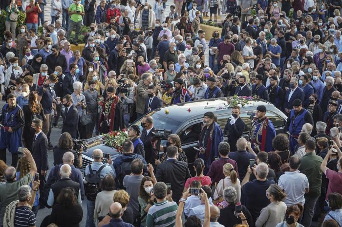 înmormântarea lui Mikis Theodorakis