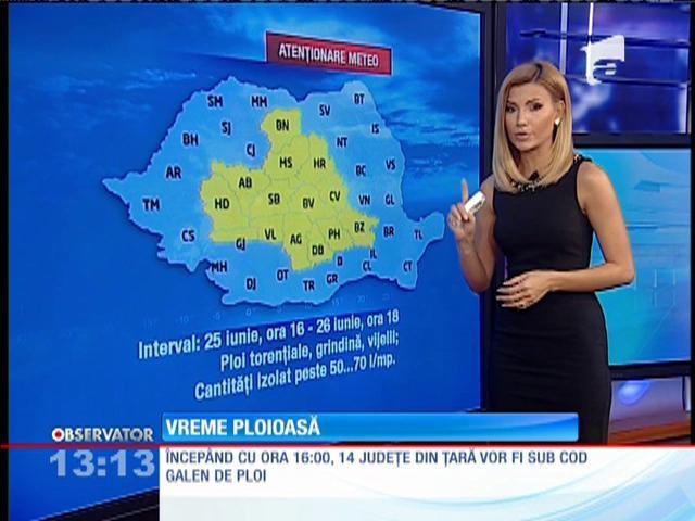 BREAKING NEWS! Cod galben de PLOI în România!
