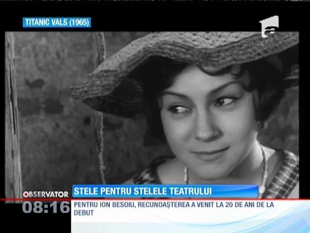 Actorii Valeria Seciu, Rodica Mandache și Ion Besoiu au primit stele pe Aleea Celebrităților