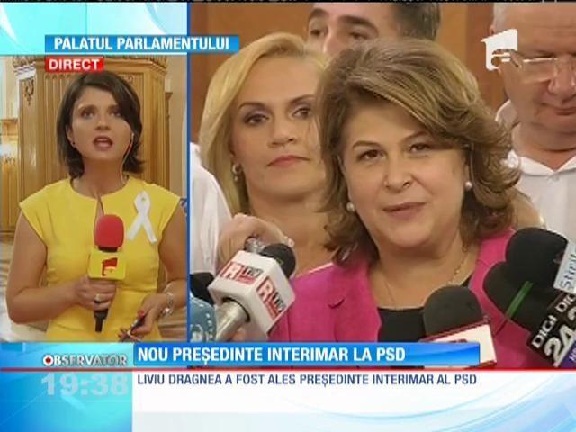Liviu Dragnea a câştigat interimatul preşedinţiei PSD. Congresul PSD va avea loc în noiembrie