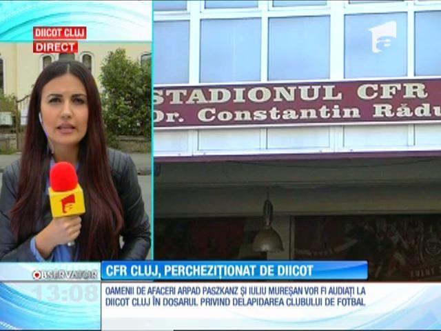 Percheziții în această dimineaţă la clubul de fotbal CFR Cluj şi la oamenii de afaceri Arpad Paszkany și Iuliu Mureșan
