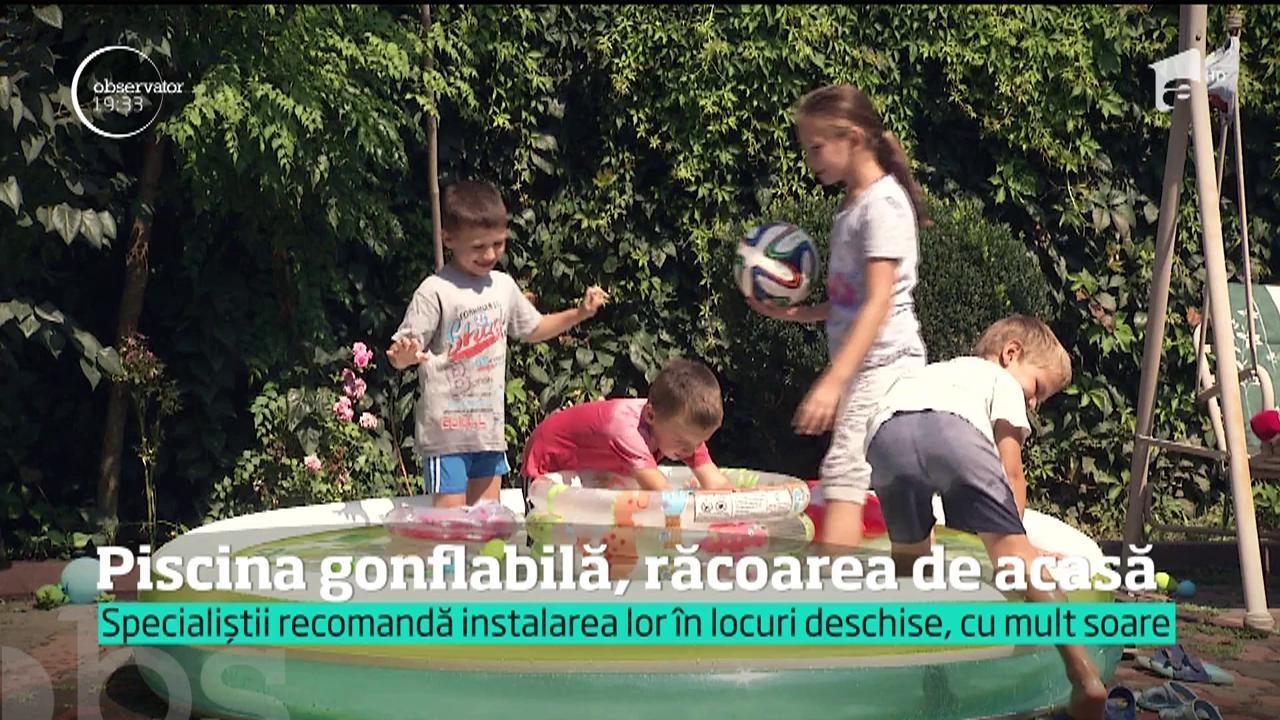 Piscinele gonflabile, vânzări duble faţă de anul trecut