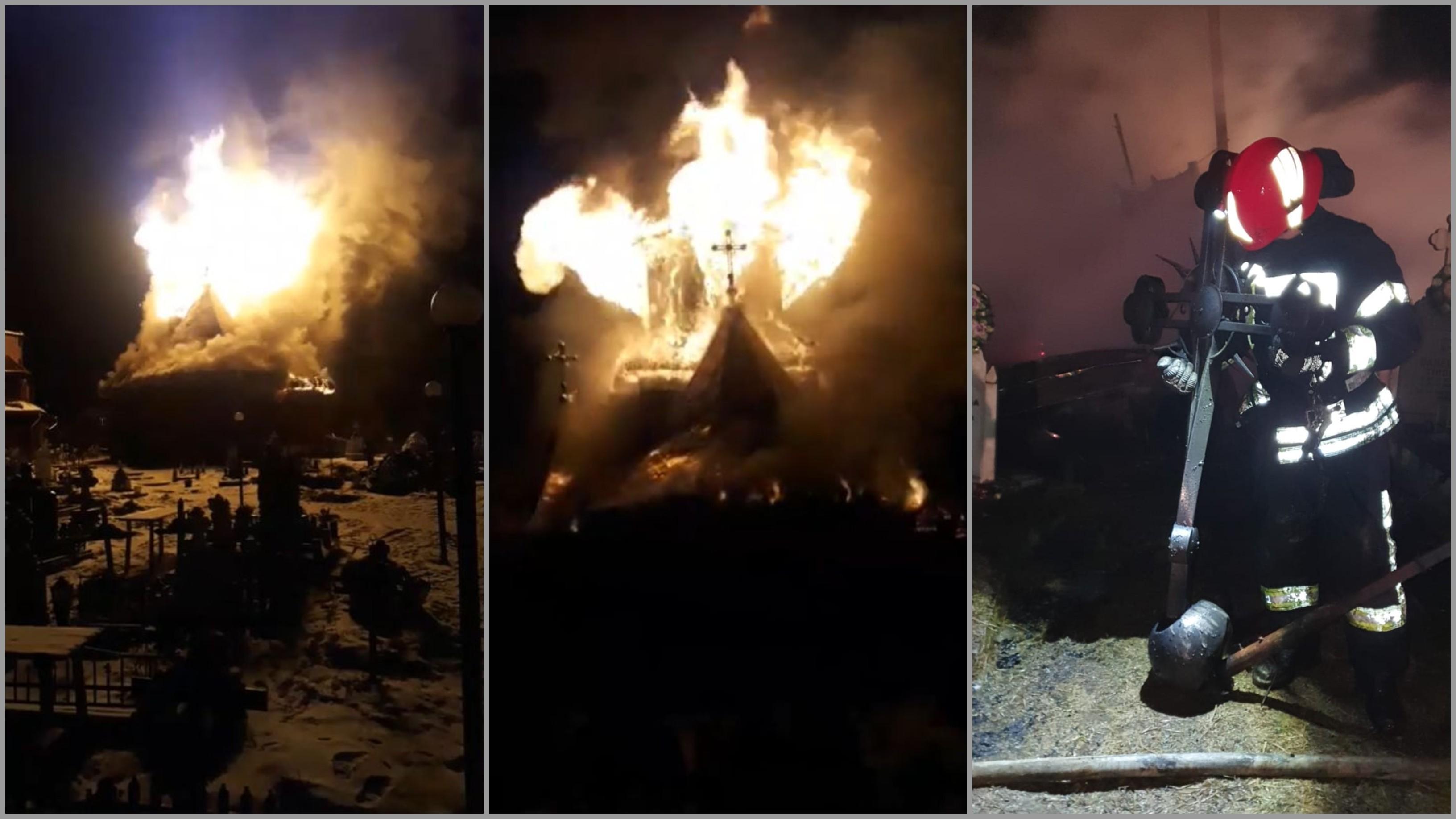 Biserică de rit vechi mistuită de flăcări în judeţul Suceava. Credincioşii sărbătoreau trecerea dintre ani și Ajunul Sfântului Vasile