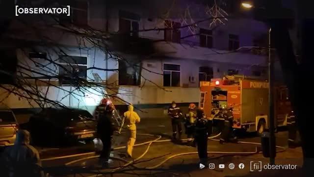 Incendiul de la Matei Balş. Imagini surprinse de martori la puţin timp de la tragedie