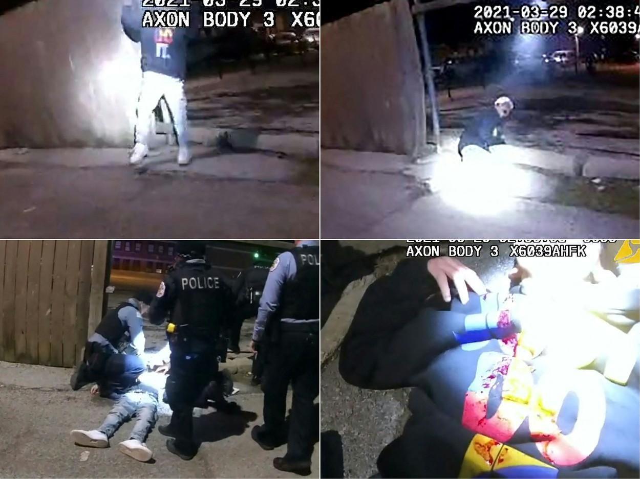 VIDEO. Un polițist împușcă în piept un copil de 13 ani pe o alee întunecată, în Chicago