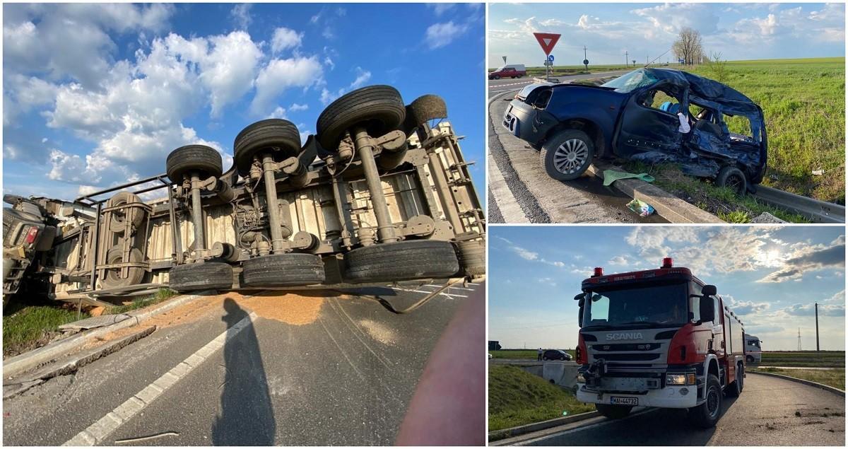 Accident cumplit pe centura Alexandriei, după ce un şofer a intrat pe contrasens, fără să observe TIR-ul din intersecţie