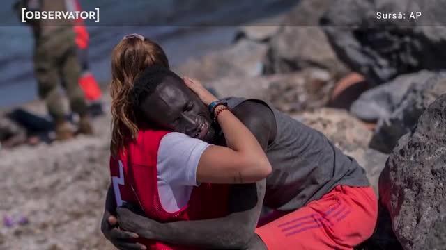 """O tânără care a îmbrățișat un migrant senegalez pe plaja din Ceuta a ajuns ținta extremiștilor: """"Avea ochii roșii, privirea pierdută, s-a lovit cu pietre"""""""