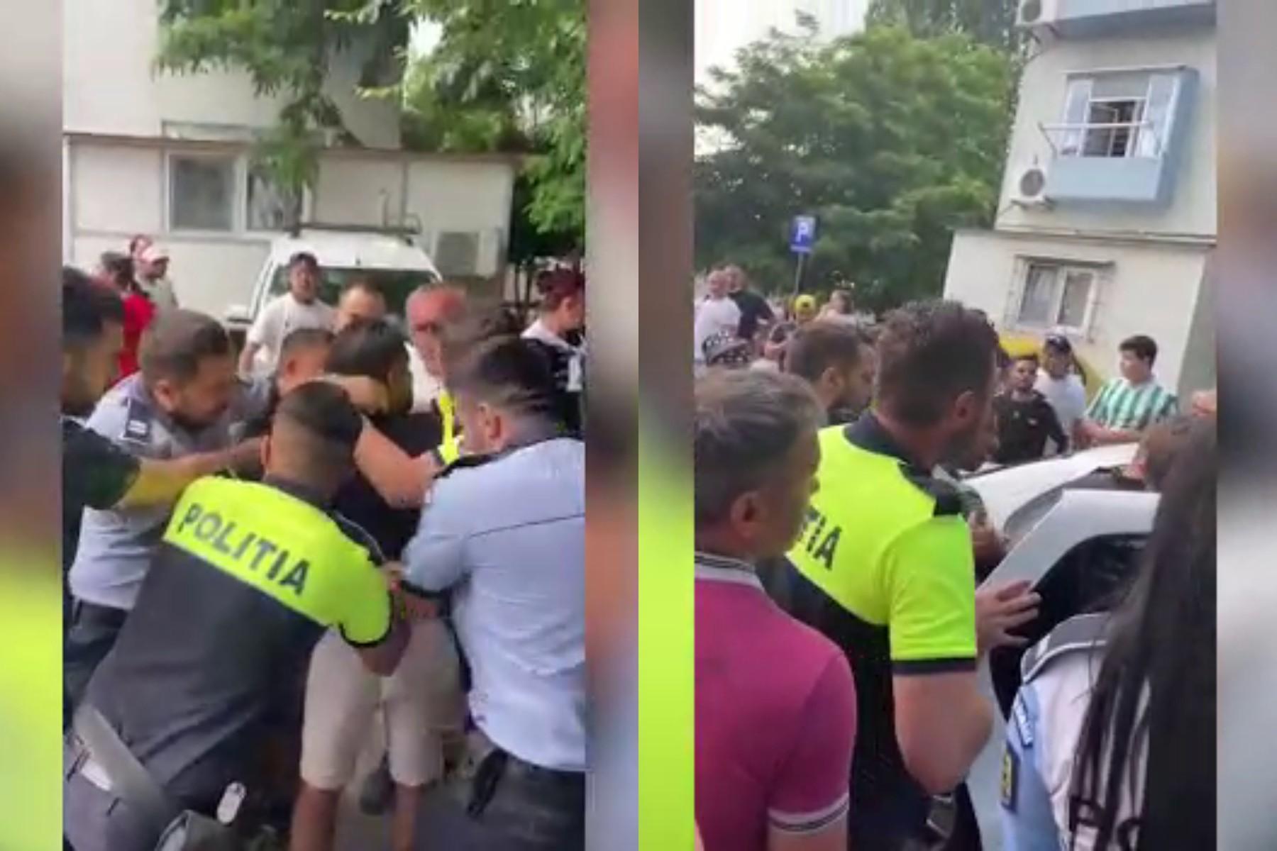 Poliția a spart o petrecere cu grătare între blocuri în Ferentari. Zeci de oameni au ieșit revoltați în stradă să se lupte cu agenții. VIDEO