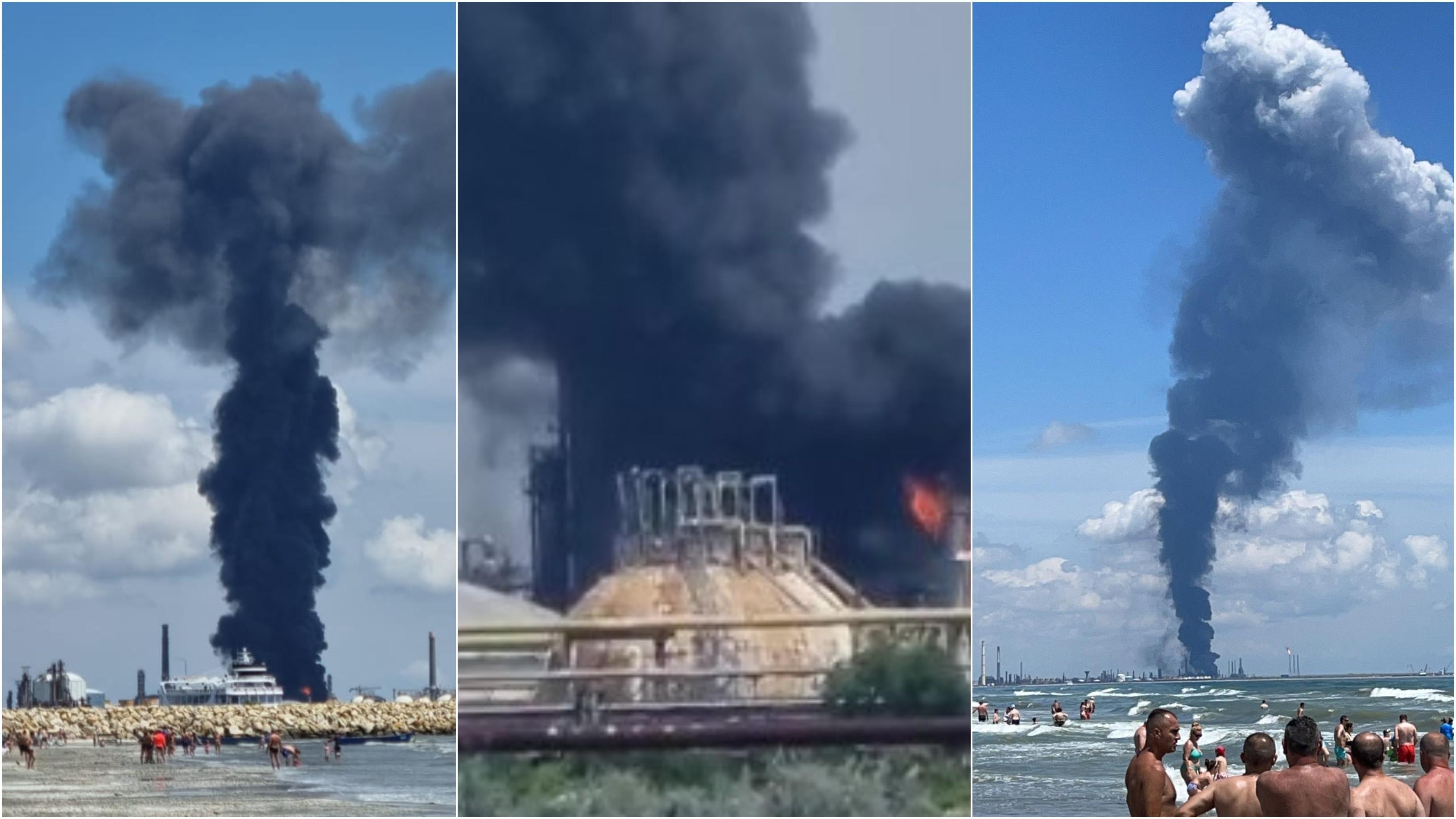 Explozie la Rafinăria Petromidia: un mort și patru răniți. Incendiul a fost lichidat după 3 ore. Lucian Bode: Se putea produce o catastrofă