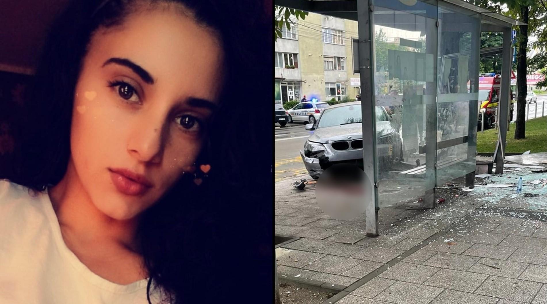 A murit Denisa, tânăra spulberată de un BMW în stația de autobuz, la Baia Mare. Soțul ei, în continuare în spital