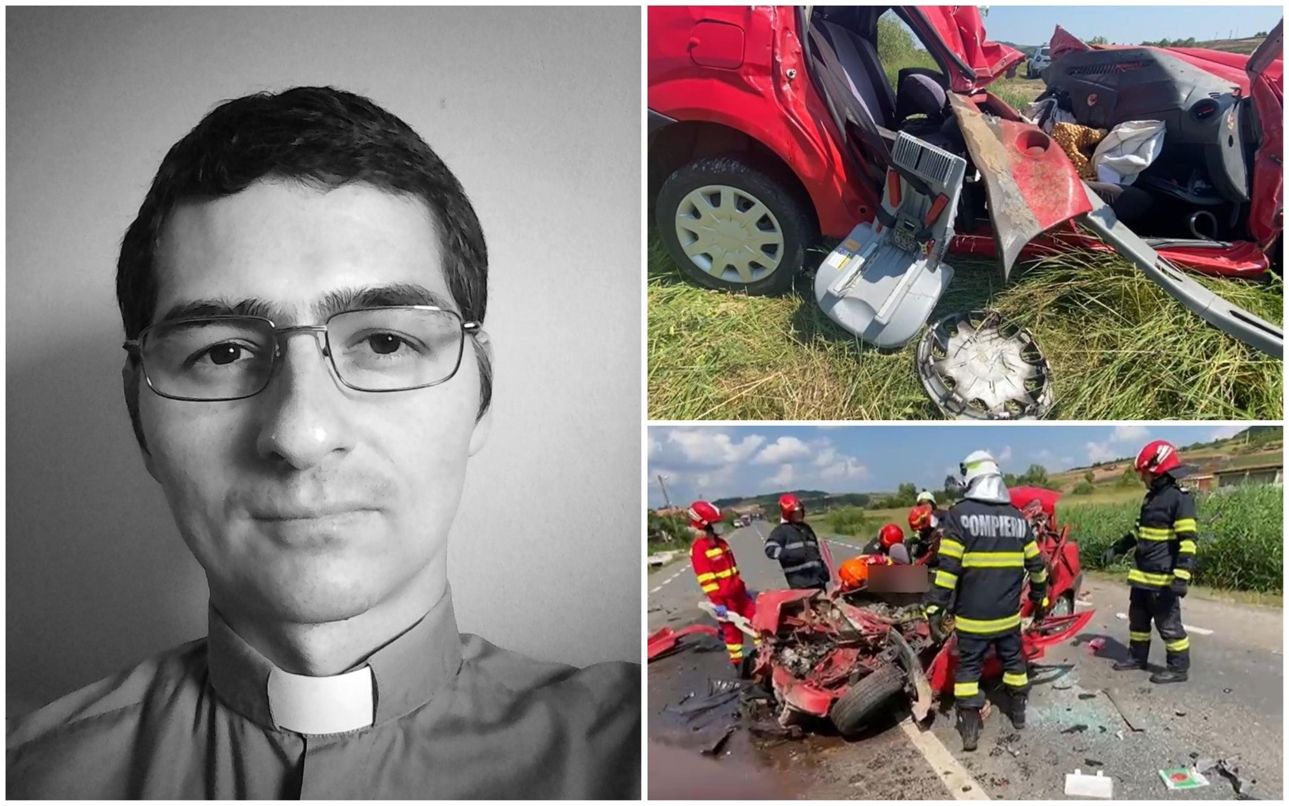 Un preot din Sălaj se afla la volanul Loganului spulberat de TIR, la Cluj. Cristian a murit pe loc, în vreme ce soția lui este în comă indusă