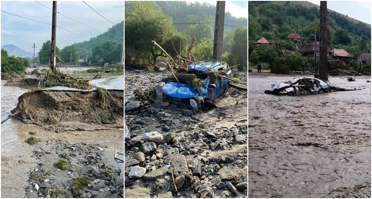 Imaginile dezastrului la Ocoliş, în Alba. A plouat în 10 ore cât pentru jumătate de an