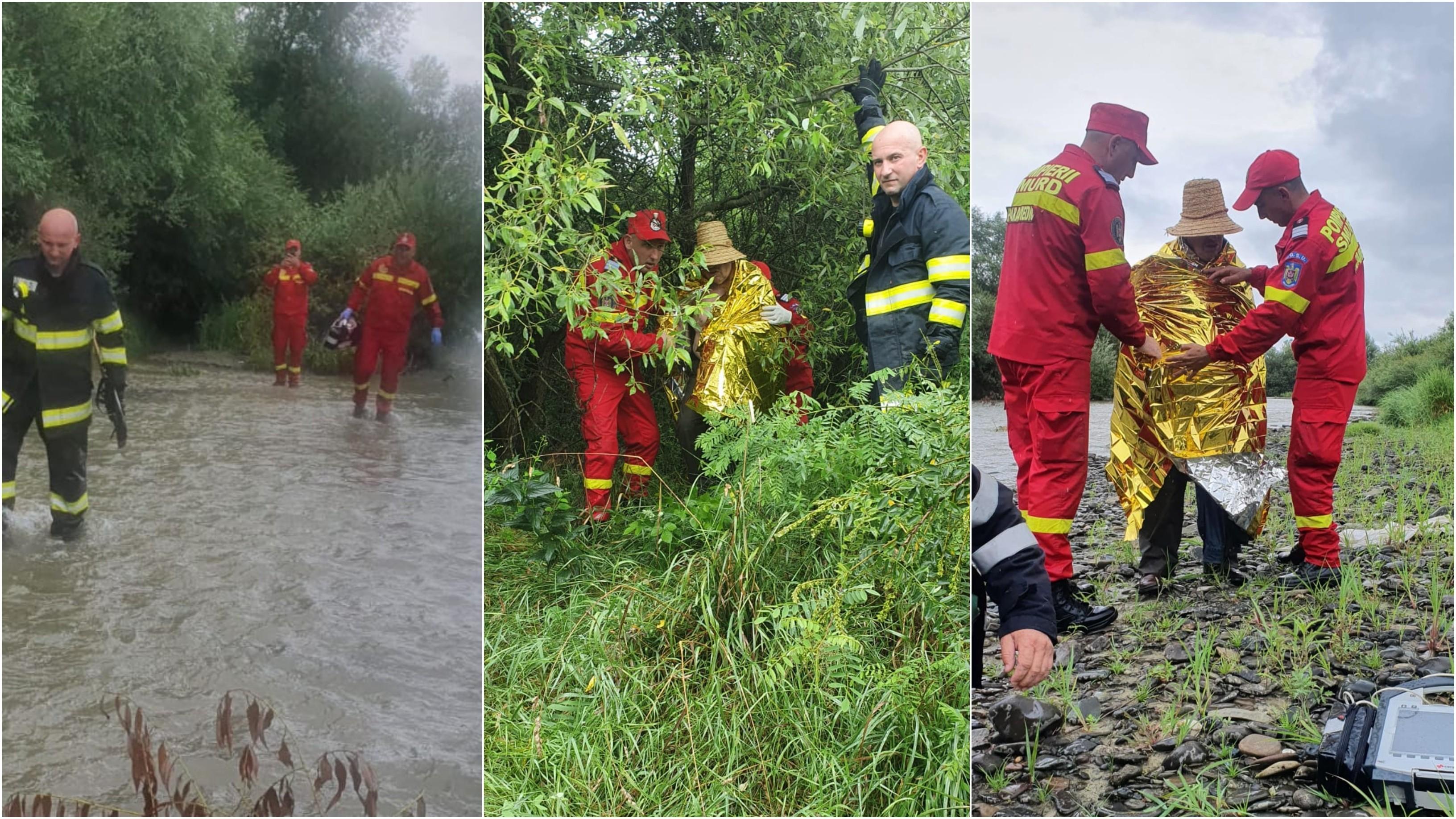 Bărbat agăţat în vegetaţia de pe marginea unui râu din Bistriţa-Năsăud, salvat după ce câinele a lătrat pentru a semnala locul în care se afla stăpânul său