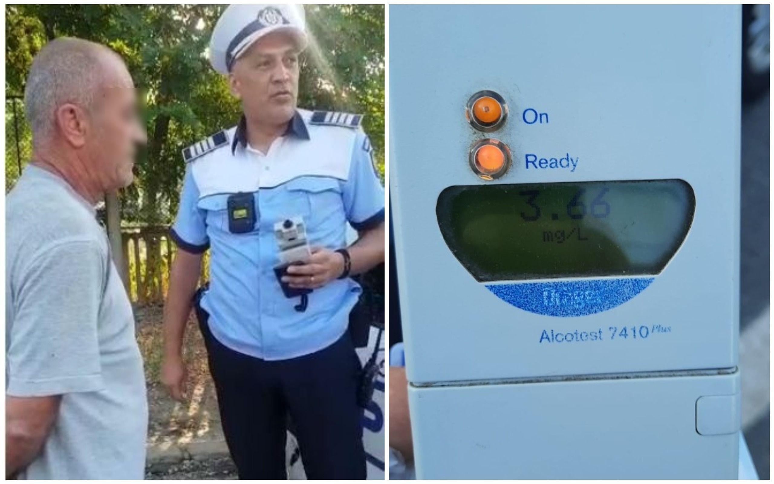 Șofer prins pe o stradă din Galați cu o alcoolemie record: 3,66 mg/l alcool pur în aerul expirat