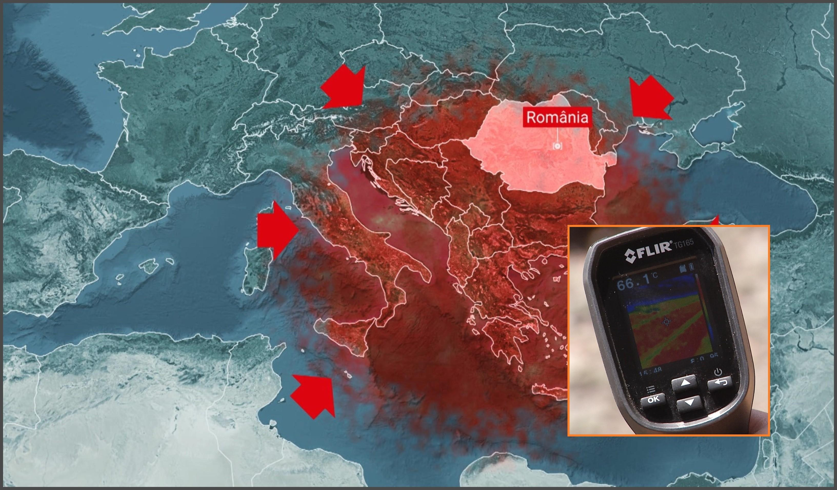 """Zone cu temperaturi de 60 de grade, după valul de căldură care a """"topit"""" jumătate de România. Diferenţă de la 39 la 18 grade, între Bucureşti şi Cluj"""