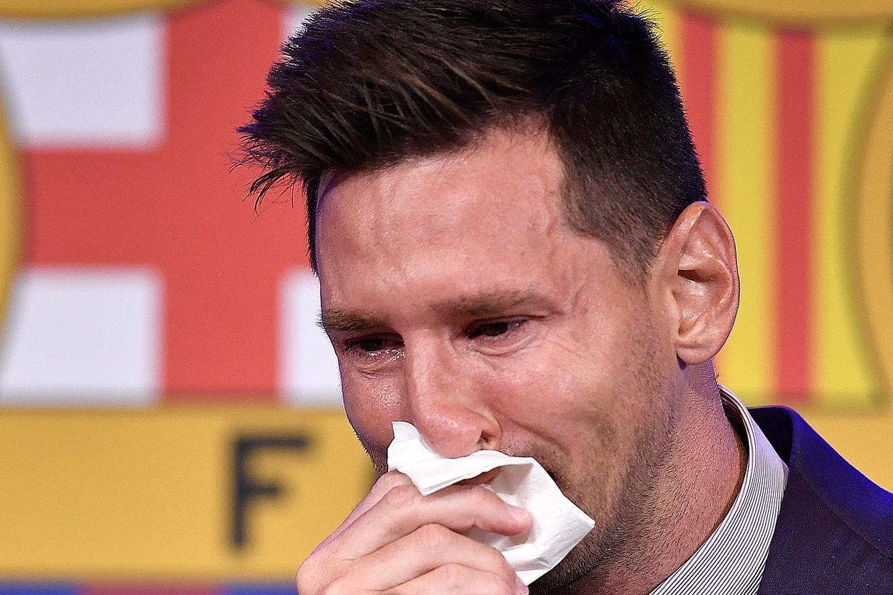 Şerveţelul cu care Leo Messi şi-a şters lacrimile, după despărțirea de Barcelona, valorează 1 milion de dolari