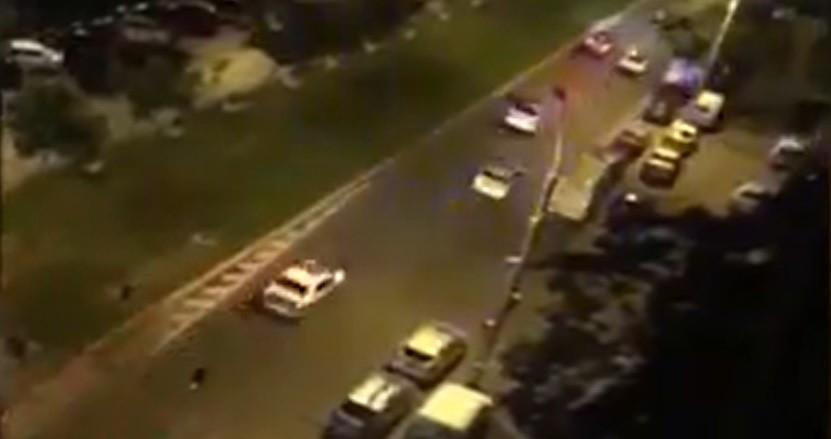 Mai multe mașini de poliție, pe urmele unui șofer. Oamenii legii au tras focuri de avertisment și au reușit să-l prindă pe bărbat la ieșirea din Capitală