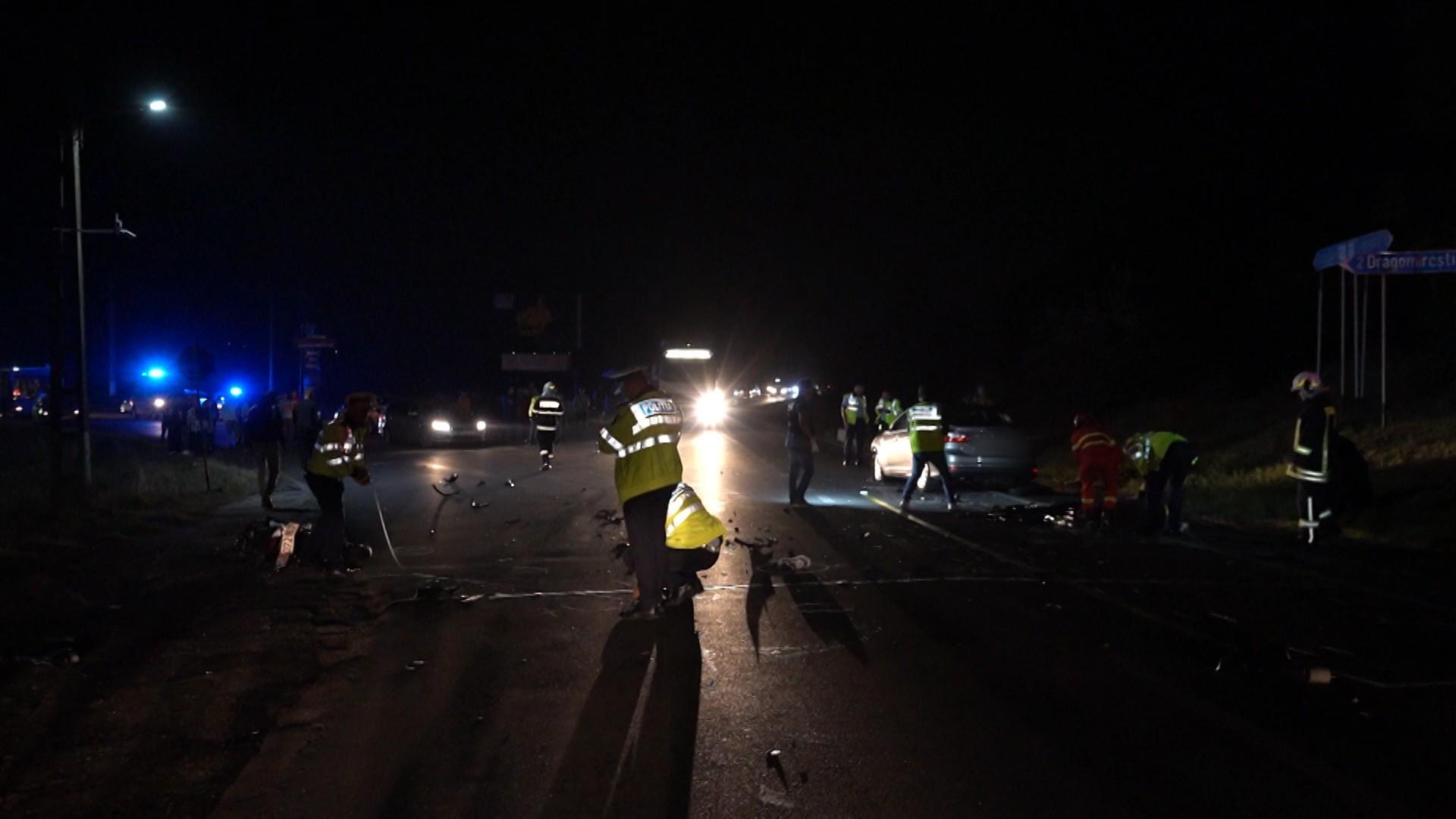 """Motociclist mort în urma unui grav accident produs în Dâmboviţa; """"Pur şi simplu a intrat în noi"""""""