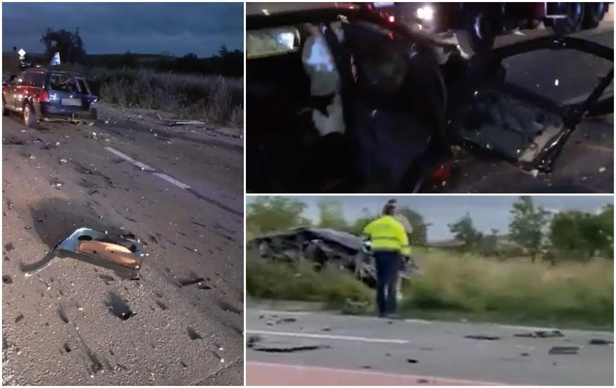 Impact devastator pe o şosea din Cluj: O persoană a murit. Bucăţi din maşini, împrăştiate pe sute de metri