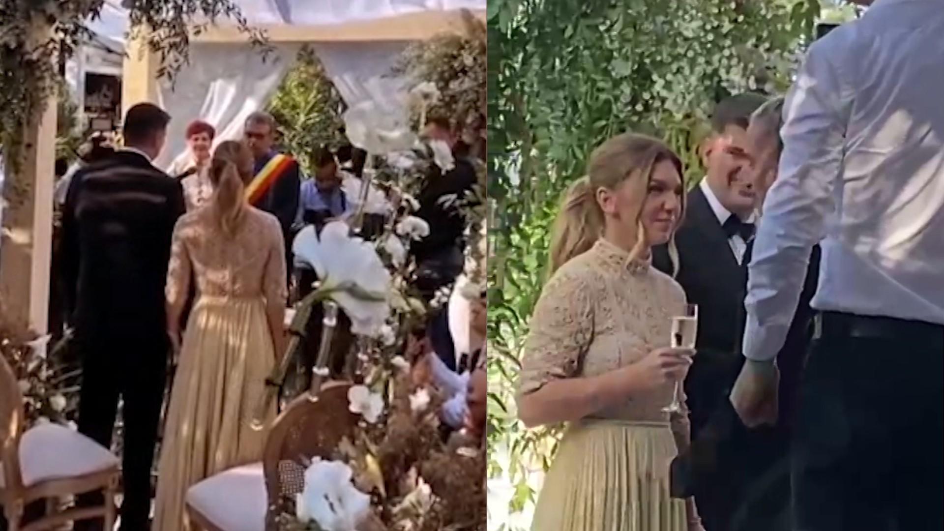 """Nuntă cu ştaif, dar fără """"bani în plic"""". Simona Halep şi Toni Iuruc au vrut ca invitaţii să aducă doar flori şi cadouri simbolice"""