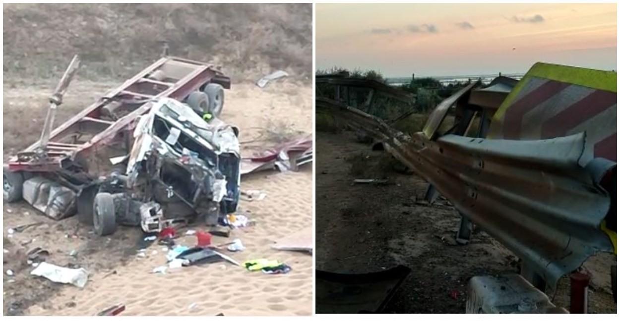 Un șofer de 23 de ani a murit, după ce a plonjat cu TIR-ul într-o prăpastie adâncă de 20m. Tânărul își serbase, joi, ziua de naștere