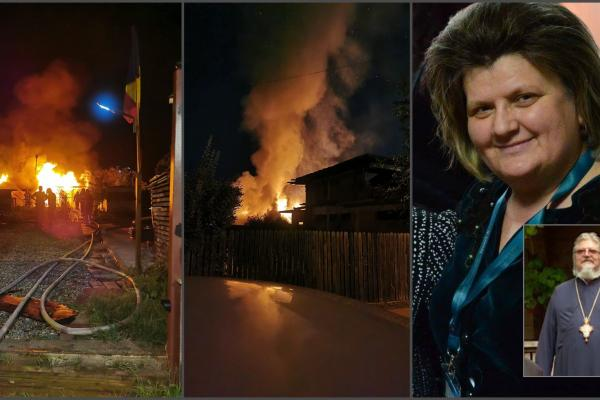 Directoarea şcolii 178 din cartierul bucureştean Pajura şi soţul ei, preotul Costel Paizan, au murit arşi de vii în casă, în timpul furtunii