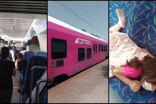 """""""Vă rugăm să ne ajutați!"""" Pasageri blocați cu orele într-un tren încins la soare, din cauza accidentului de la Fetești"""
