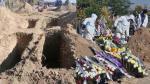 Un tablou sinistru: La Slobozia, gropile în cimitir se fac cu excavatorul, morţii ajung să fie îngropaţi aproape de şosea, din lipsă de spaţiu