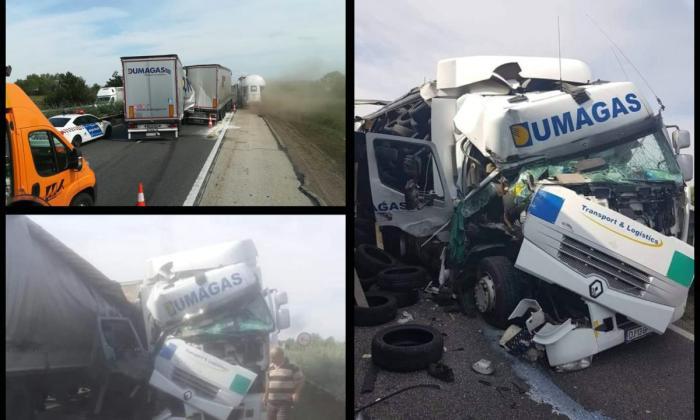 Şofer român de tir, accident în Ungaria