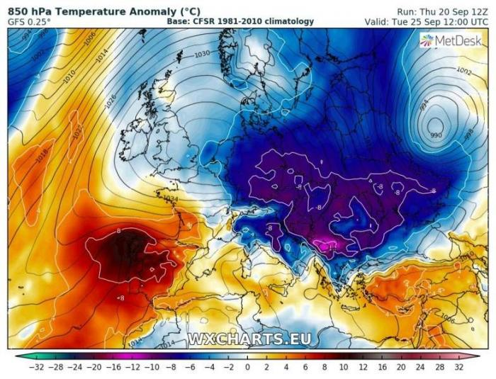 Minus 12 grade în România săptămâna viitoare