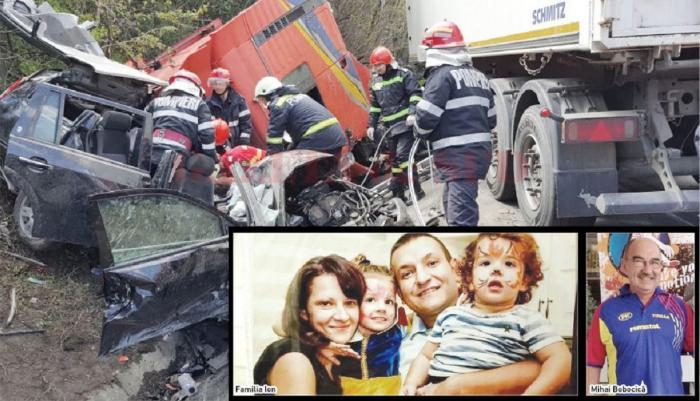 O familie cu doi copii, de 7 şi 3 ani, a murit în accidentul de la Pădurea Sarului