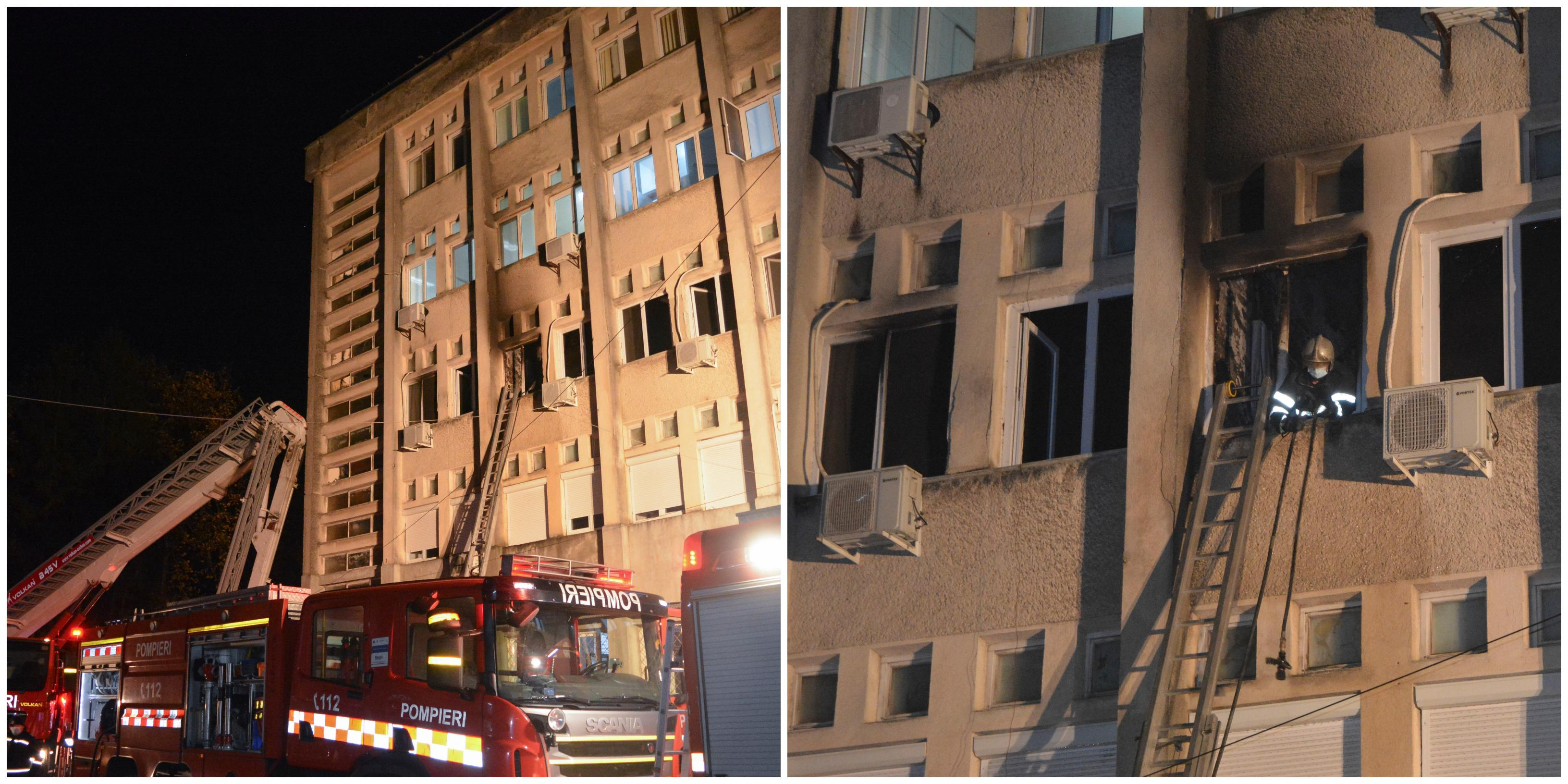 10 persoane au murit în incendiul de la Spitalul din Piatra Neamț