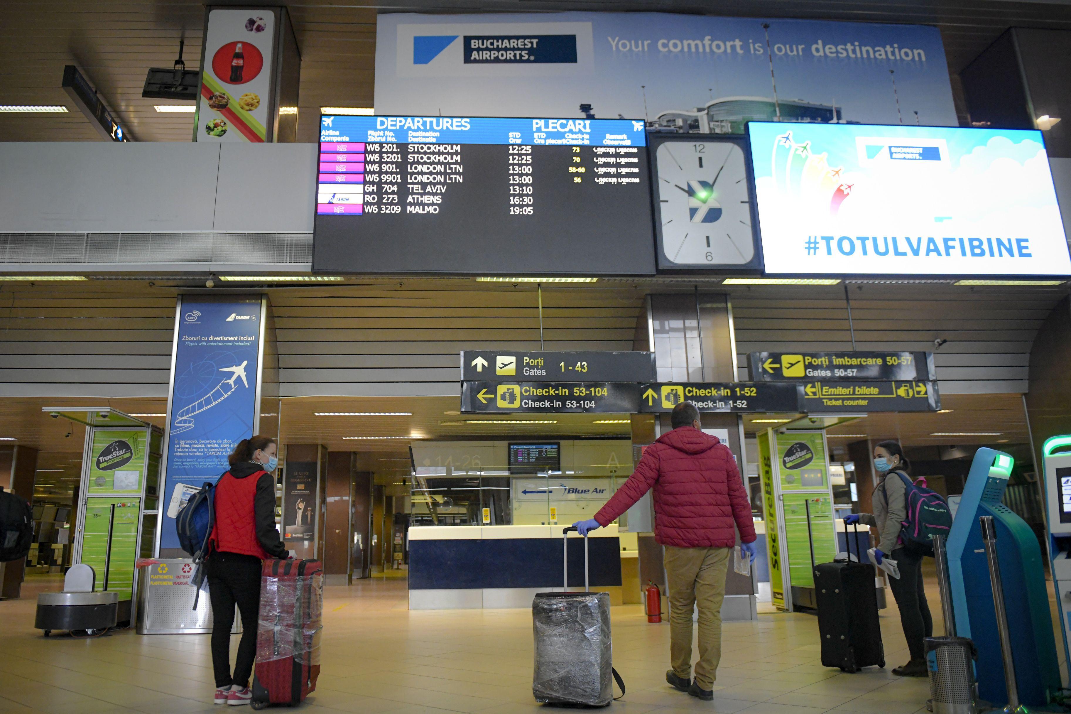 România ar putea interzice zborurile din Regatul Unit, din cauza temerilor legate de noua tulpină Covid-19
