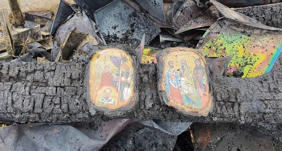 icoane neatinse de incendiu, în Suceava