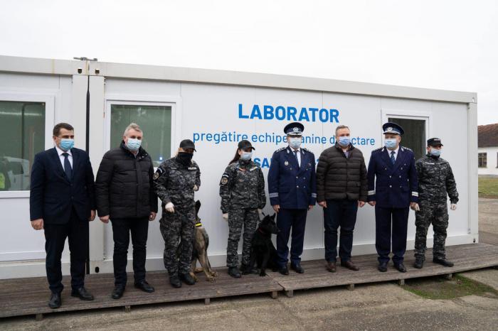 La Sibiu, câinii polițiști sunt antrenați pentru detectarea persoanelor infectate cu virusul SARS-CoV-2