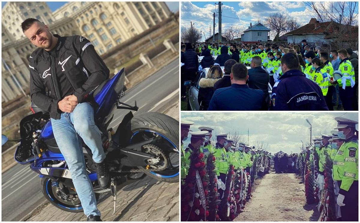 Ionuţ Negrilă, poliţistul mort în Piaţa Constituţiei, a fost înmormântat. Zeci de colegi l-au condus pe ultimul drum