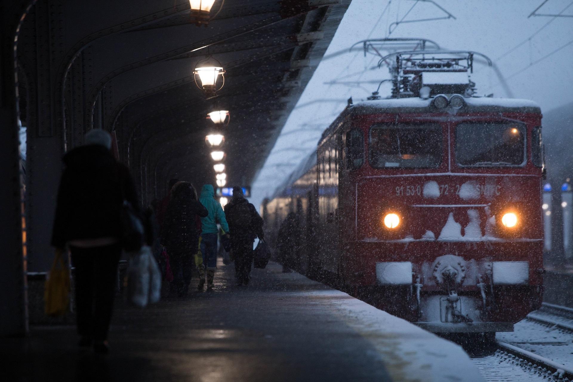 trafic feroviar perturbat de ninsori