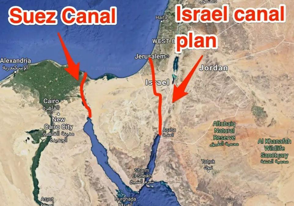 Cum au vrut americanii să construiască o alternativă la Canalul Suez, prin Israel, cu 520 de bombe nuclare