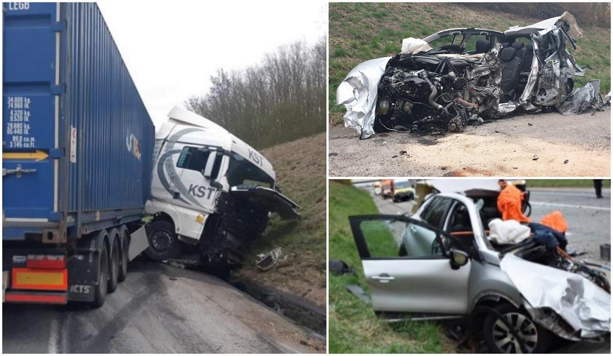 TIR românesc, accident înfiorător în Franța. O șoferiță a murit pe loc după ce a intrat cu mașina pe contrasens