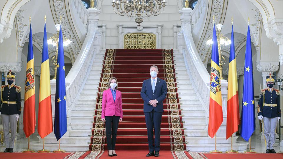 Klaus Iohannis și Maia Sandu, la întrevederea de la Palatul Cotroceni