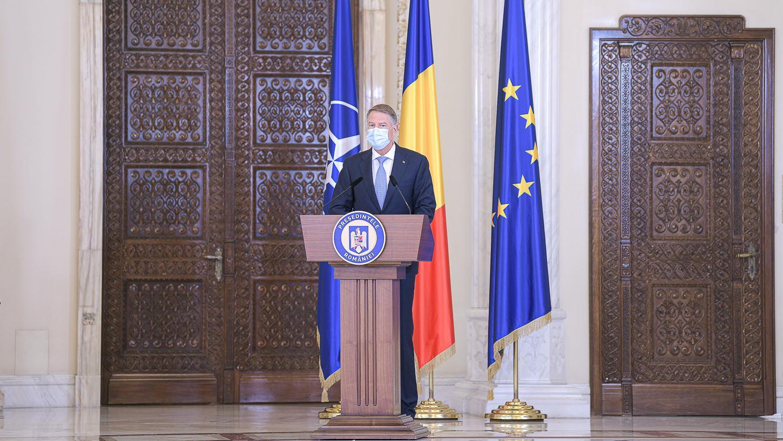 Klaus Iohannis a susţinut o declarație de presă la Palatul Cotroceni