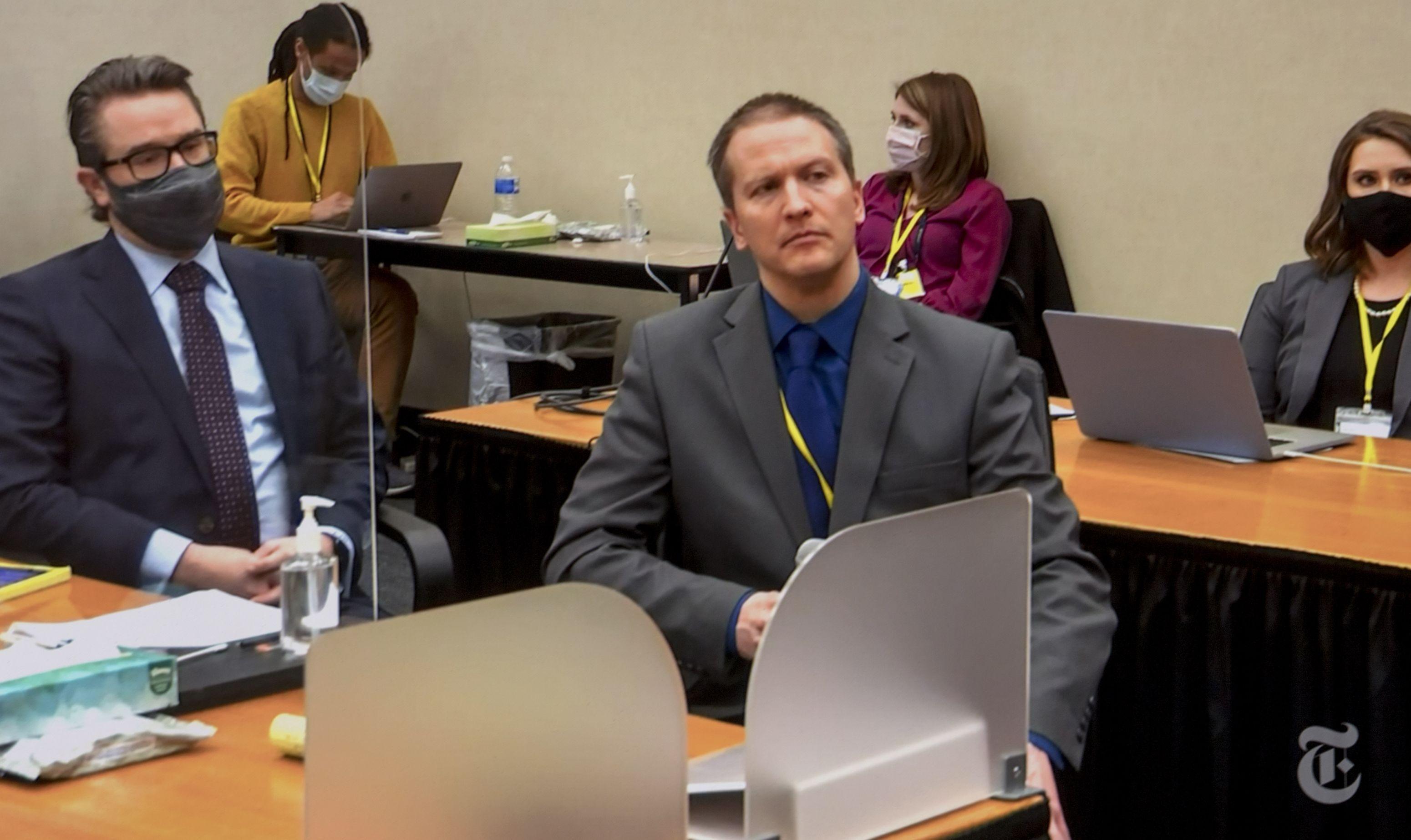 Derek Chauvin, în sala de judecată la procesul privind moartea lui George Floyd