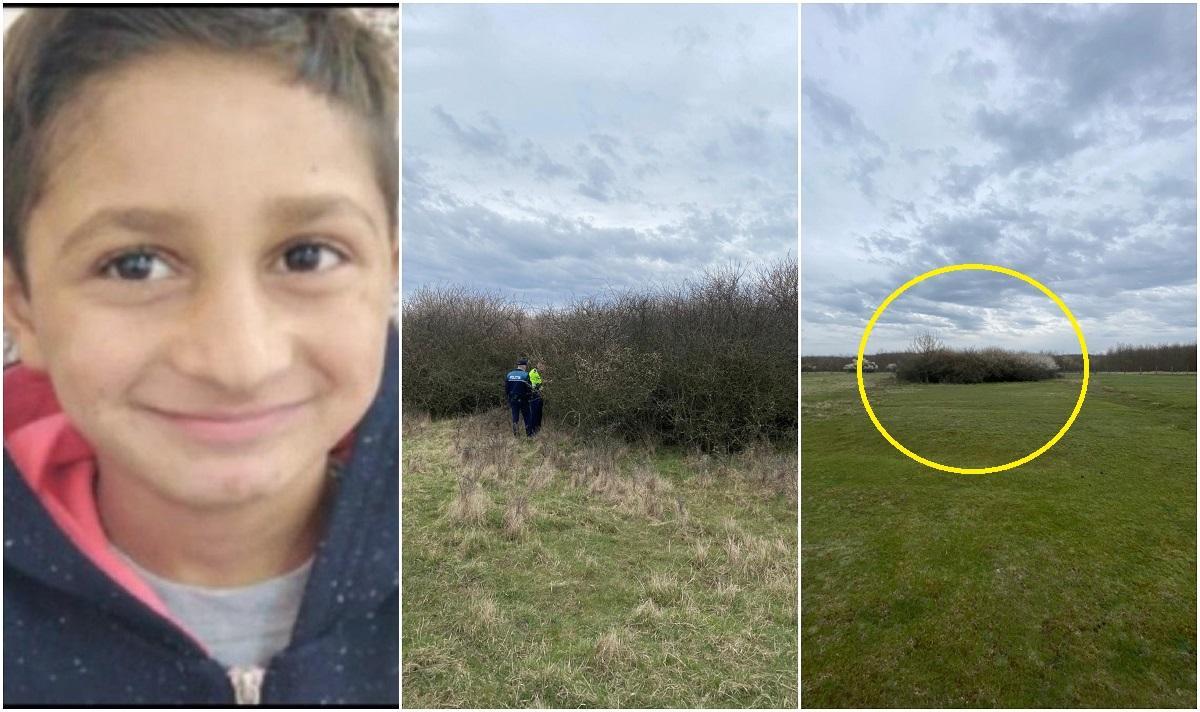 Sebi, copilul de 7 ani dispărut din ianuarie la Arad, a fost găsit mort, într-o tufă, în zona localității Vânători
