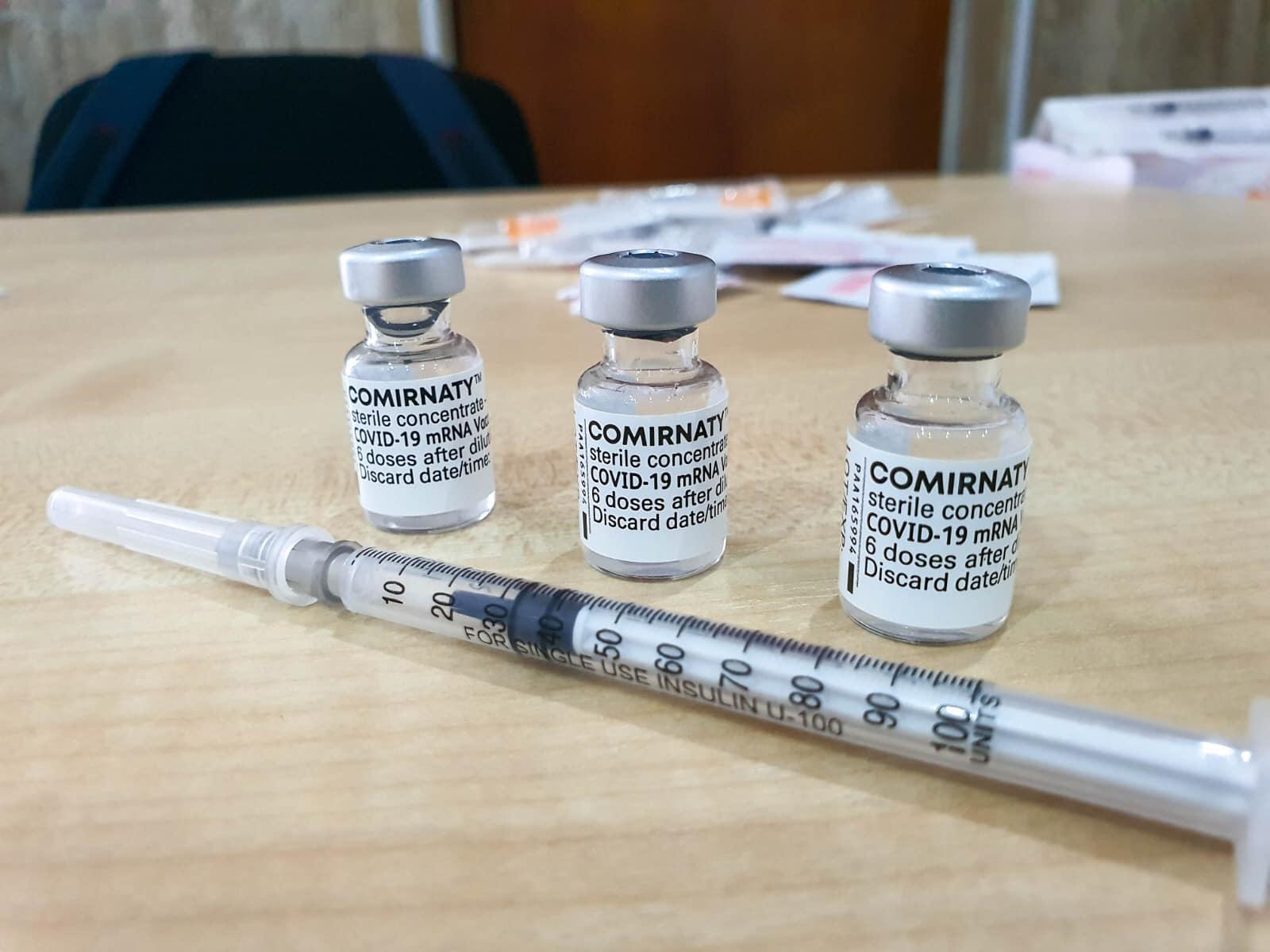 Ambalajul vaccinului Pfizer