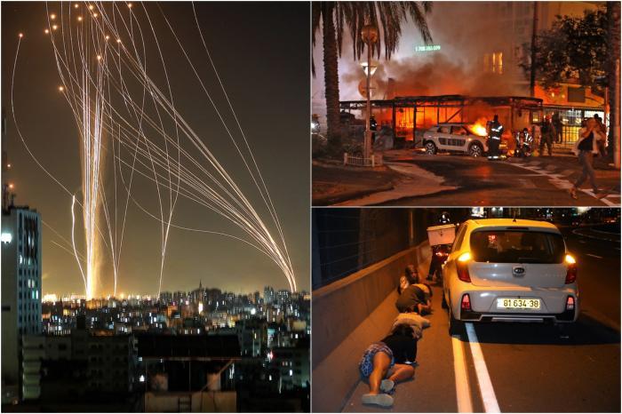 Iron Dome-ul a interceptat o ploaie de rachete către Tel-Aviv. O clădire Hamas cu 13 etaje din Gaza a fost distrusă de Israel