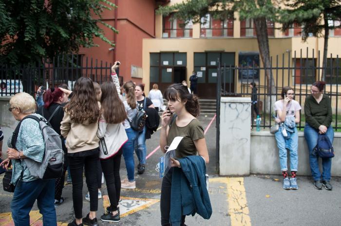 elevi din București la Evaluarea Națională